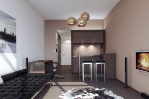 Innengestaltung Singleappartements München