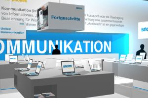 SNOM MESSESTAND CEBIT 2015